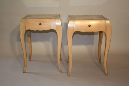 A pair of Rene Prou side cabinets, French c1935