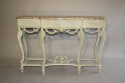 French Victorian painted and marble console. c1900 - picture 4