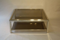 Silver metal two tier coffee table - picture 2
