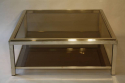 Silver metal two tier coffee table - picture 3