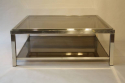 Silver metal two tier coffee table - picture 6