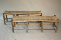 A rustic rush bench - only one left - picture 1