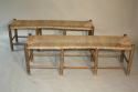 A rustic rush bench - only one left - picture 3