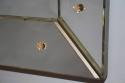 Venetian mirror with metal arrow corners, c1950 - picture 4