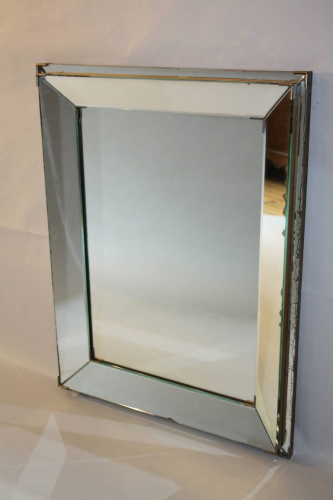 French 1950`s stepped mirror