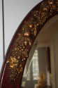 Unusual burgundy painted and gilt Art Deco oval mirror. French c1900 - picture 4