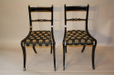 A set of eight brass and ebonised Regency dining chairs inc two carvers - picture 2