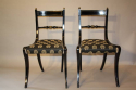 A set of eight brass and ebonised Regency dining chairs inc two carvers - picture 4