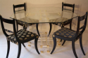 A set of eight brass and ebonised Regency dining chairs inc two carvers - picture 8