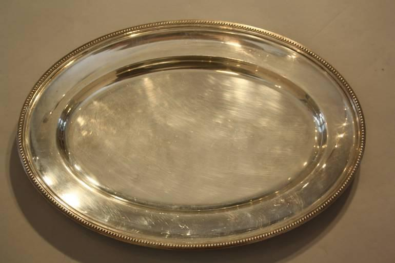 A Christofle Oval Serving Plate