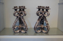 Pair of Vallauris grotto candlesticks, French c1960. Stamped with artists label. - picture 2