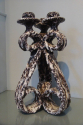 Pair of Vallauris grotto candlesticks, French c1960. Stamped with artists label. - picture 3