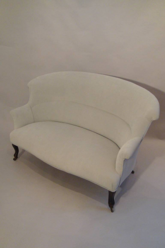 Classic French balloon back sofa, Napoleon III c1890