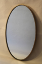 Italian brass and beaded oval mirror - picture 2