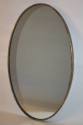 Italian brass and beaded oval mirror - picture 3
