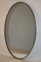 Italian brass and beaded oval mirror - picture 4