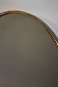 Italian brass and beaded oval mirror - picture 6