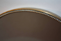 Italian brass and beaded oval mirror - picture 7