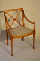 Edwardian inlaid chair - picture 1