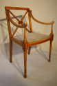 Edwardian inlaid chair - picture 5