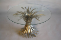 Silver metal wheat sheaf  table, French c1950 - picture 1