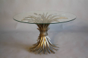 Silver metal wheat sheaf  table, French c1950 - picture 2