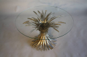 Silver metal wheat sheaf  table, French c1950 - picture 3