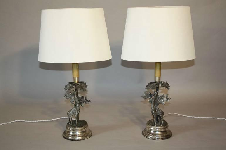 A pair of Valenti Giraffe table lamps