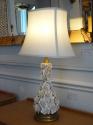 Italian white glazed ceramic rose flower table lamp, c1950 - picture 3