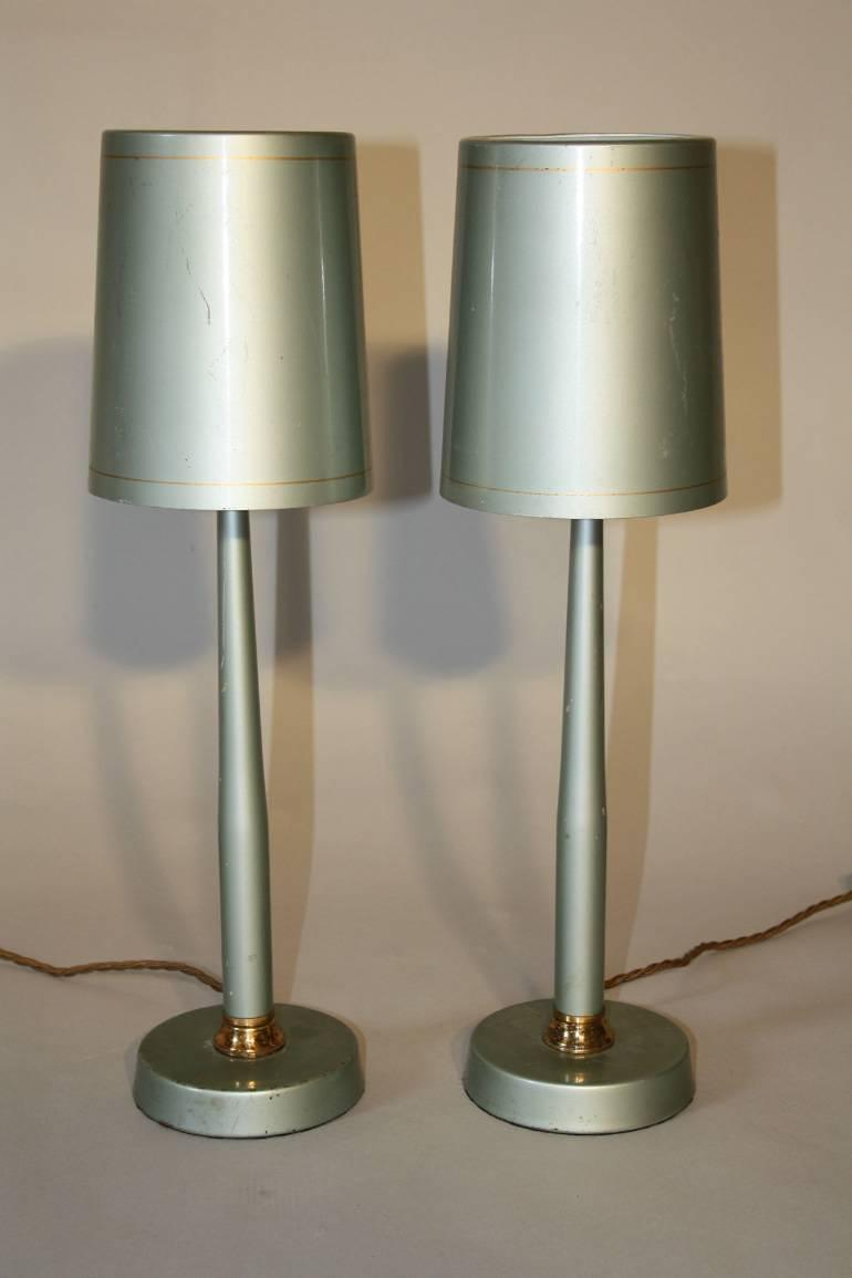 A pair of Brazilian 1950`s table lamps