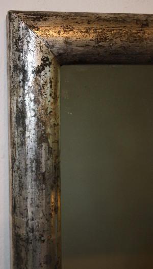 Silver leaf French bistro mirror, c1900
