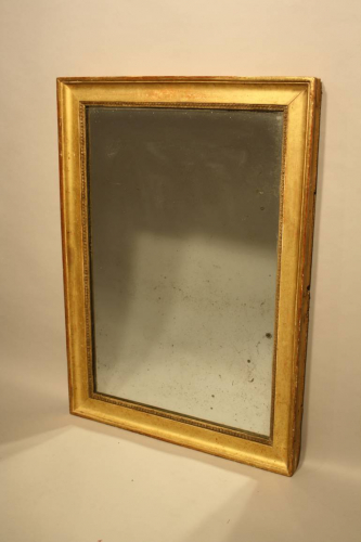 Soft gold rectangular mirror