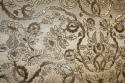 Indian hand stitched sequin textile of stylised flora and fauna on cream silk background. Early 20th - picture 1