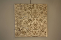 Indian hand stitched sequin textile of stylised flora and fauna on cream silk background. Early 20th - picture 4