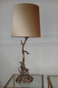 Large Valenti silver metal table lamp, c1950 Italian - picture 2