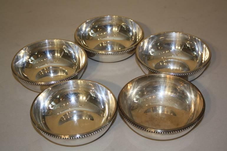 A Set of Five Christofle Small Bowls