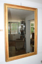 Gold leaf rectangular mirror, French c1880 - picture 2