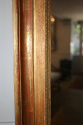 Gold leaf rectangular mirror, French c1880 - picture 4