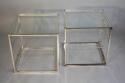 A pair of Collezione Sabattini silver metal side tables. Italian c1970 - picture 2