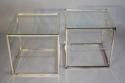 A pair of Collezione Sabattini silver metal side tables. Italian c1970 - picture 3