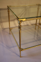 A pair of two tier brass side tables, French c1970 - picture 2
