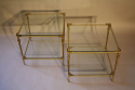 A pair of two tier brass side tables, French c1970 - picture 4