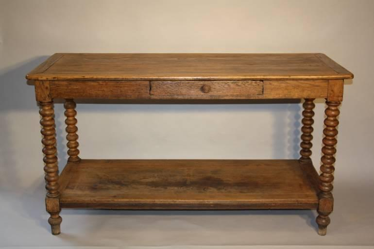 C19th Oak drapers table