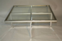 Large silver framed and glass coffee table - picture 3