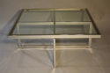 Large silver framed and glass coffee table - picture 4