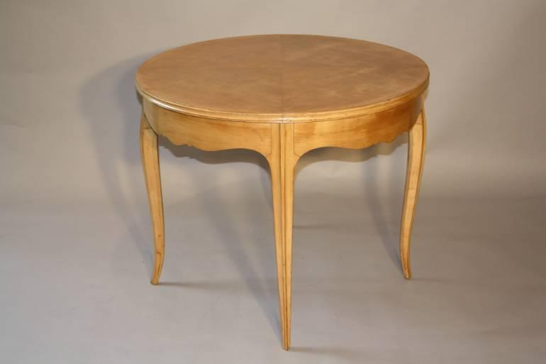 Attributed to Rene Prou, sycamore table French c1950