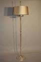 An elegant silver metal floor lamp, Spanish c1950 - picture 1
