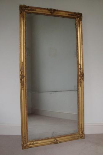 French mercury glass split level mirror, Napoleon III c1880