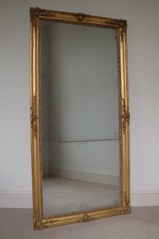 French mercury glass split level mirror, Napoleon III c1880