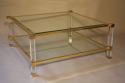 A good size two tier lucite and glass Pierre Vandel coffee table, French c1970 - picture 1